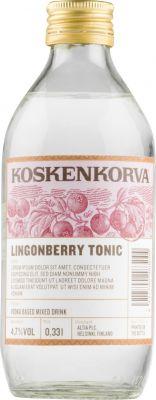[kuva: Koskenkorva Lingonberry Tonic(© Alko)]