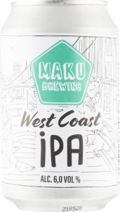 [kuva: Maku Brewing West Coast IPA tölkki(© Alko)]
