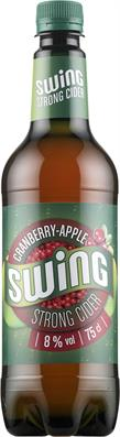 [kuva: Swing Cranberry-Apple Strong Cider  muovipullo(© Alko)]