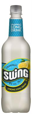 [kuva: Swing Grapefruit Strong Long Drink muovipullo(© Alko)]