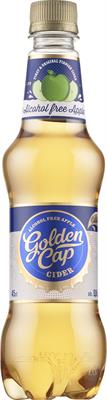 [kuva: Golden Cap Alcohol Free Apple Cider muovipullo(© Alko)]