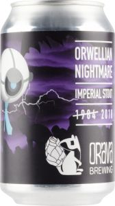 [kuva: Orava Brewing Orwellian Nightmare Imperial Stout tölkki(© Alko)]