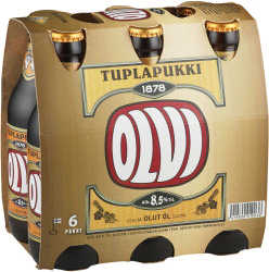 [kuva: Olvi Tuplapukki 6-pack pullo(© Alko)]