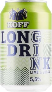 [kuva: Koff Long Drink Lime & Vodka tölkki(© Alko)]