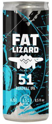 [kuva: Fat Lizard 51 Roadkill IPA tölkki(© Alko)]