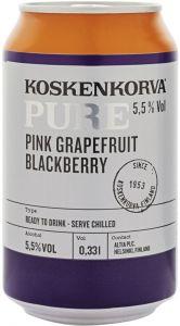 [kuva: Koskenkorva Pure Pink Grapefruit Blackberry tölkki(© Alko)]