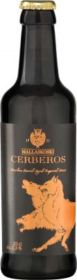 [kuva: Mallaskoski Cerberos Bourbon Barrel Aged Imperial Stout(© Alko)]
