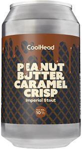 [kuva: CoolHead Peanut Butter Caramel Crisp Imperial Stout tölkki(© Alko)]