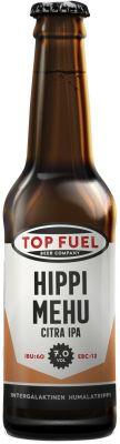 [kuva: Top Fuel Hippimehu Citra IPA(© Alko)]