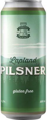 [kuva: Tornion Lapland Pilsner Gluten Free tölkki(© Alko)]