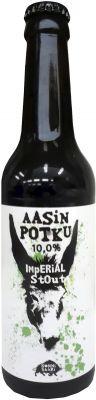 [kuva: Sonnisaari Aasin Potku Imperial Stout(© Alko)]
