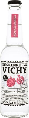 [kuva: Koskenkorva Vichy Vadelma Granaattiomena(© Alko)]