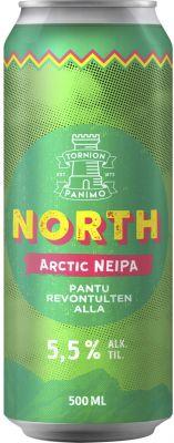 [kuva: Tornion North Arctic NEIPA tölkki(© Alko)]