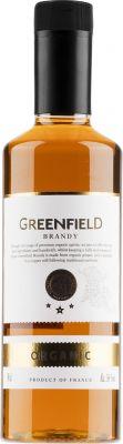 [kuva: Greenfield Organic Brandy muovipullo(© Alko)]
