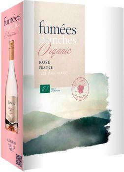 [kuva: Les Fumées Blanches Vin Biologique Rosé 2020 hanapakkaus(© Alko)]