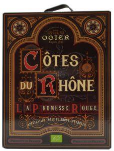 [kuva: Ogier Côtes du Rhône La Promesse Rouge 2016 hanapakkaus(© Alko)]