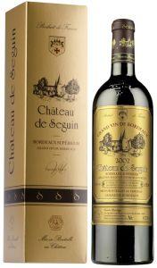 [kuva: Château de Seguin Cuvée Prestige 2014 lahjapakkaus(© Alko)]