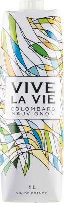 [kuva: Vive la Vie Colombard Sauvignon 2020 kartonkitölkki(© Alko)]