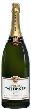 [kuva: Taittinger Réserve Champagne Brut  Jeroboam(© Alko)]