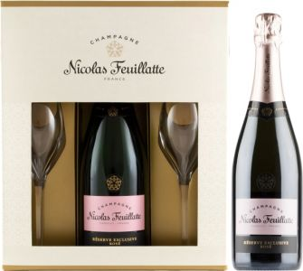 [kuva: Nicolas Feuillatte Réserve Exclusive Rosé Champagne Brut lahjapakkaus(© Alko)]