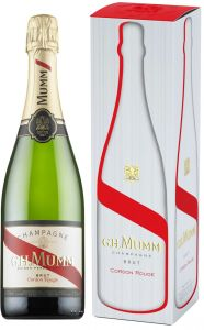[kuva: Mumm Cordon Rouge Champagne Brut lahjapakkaus(© Alko)]