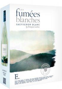 [kuva: Les Fumées Blanches Sauvignon Blanc 2020 hanapakkaus(© Alko)]