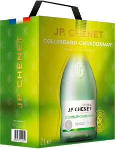 [kuva: JP. Chenet Colombard Chardonnay 2017 hanapakkaus(© Alko)]