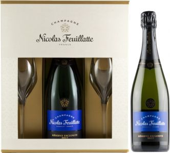 [kuva: Nicolas Feuillatte Réserve Exclusive Champagne Brut lahjapakkaus(© Alko)]