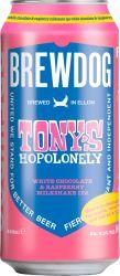 [kuva: BrewDog Tony's Hopolonely White Chocolate & Raspberry Milkshake IPA tölkki]
