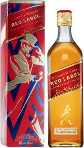 [kuva: Johnnie Walker Red Label lahjapakkaus(© Alko)]