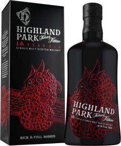 [kuva: Highland Park Twisted Tattoo 16 Year Old Single Malt(© Alko)]