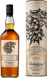 [kuva: Dalwhinnie Winter's Frost Game of Thrones House Stark Single Malt(© Alko)]