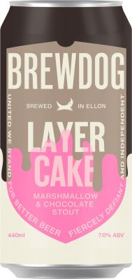 [kuva: BrewDog Layer Cake Stout tölkki(© Alko)]