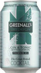[kuva: Greenall's London Dry Gin & Tonic Bitter Lemon tölkki(© Alko)]