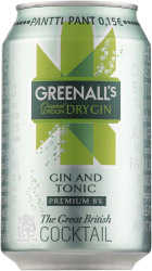 [kuva: Greenall's London Dry Gin & Tonic tölkki(© Alko)]