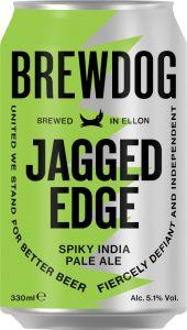 [kuva: BrewDog Jagged Edge IPA tölkki(© Alko)]