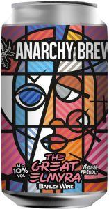 [kuva: Anarchy The Great Elmyra Barley Wine tölkki(© Alko)]