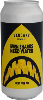 [kuva: Verdant Even Sharks Need Water IPA tölkki(© Alko)]