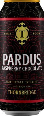 [kuva: Thornbridge Pardus Raspberry Chocolate Imperial Stout tölkki(© Alko)]