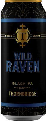 [kuva: Thornbridge Wild Raven Black IPA tölkki(© Alko)]