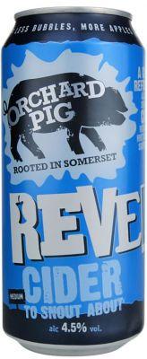 [kuva: Orchard Pig Reveller Cider tölkki(© Alko)]