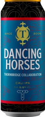 [kuva: Thornbridge Dancing Horses Cali IPA tölkki(© Alko)]