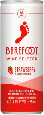 [kuva: Barefoot Wine Seltzer Strawberry Guava tölkki(© Alko)]