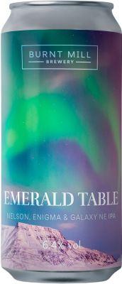 [kuva: Burnt Mill Emerald Table NEIPA tölkki(© Alko)]
