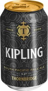 [kuva: Thornbridge Kipling South Pacific Pale Ale tölkki(© Alko)]