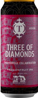[kuva: Thornbridge Three of Diamonds Passionfruit IPA tölkki(© Alko)]