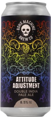 [kuva: Bone Machine Attitude Adjustment Double IPA tölkki(© Alko)]