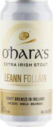 [kuva: O'Hara's Leann Follain Extra Irish Stout tölkki]