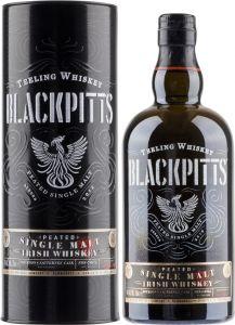 [kuva: Teeling Whiskey Blackpitts Peated Single Malt(© Alko)]