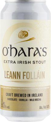 [kuva: O'Hara's Leann Follain Extra Irish Stout tölkki(© Alko)]